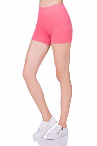 Damen Super Weich Baumwollshorts Elastischer Stretch Yoga Sport Höschen UK 8-22