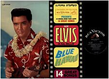ELVIS PRESLEY Blue Hawaii SOUNDTRACK RCA LIVING STEREO 2ND PRESSING LP RECORD