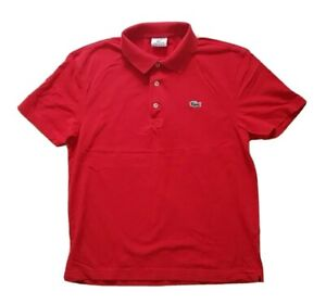 Polo-LACOSTE-Devanlay-Postbox-Rouge-en-Coton-Coupe-Standard-Taille-4-S-40