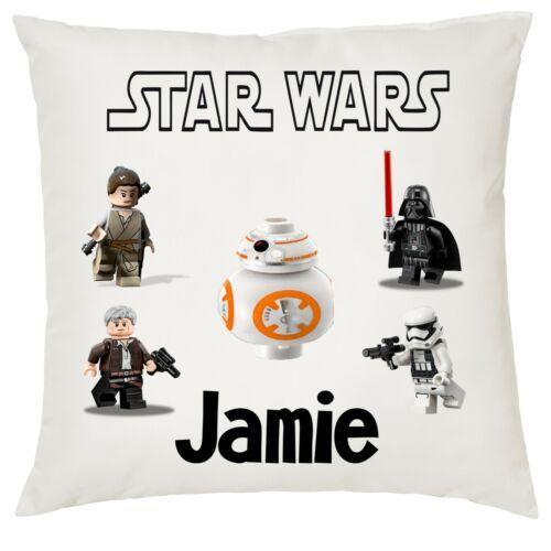 Personnalisé Enfants Lego Star Wars Doux Housse de coussin 40x40cm garçons//filles