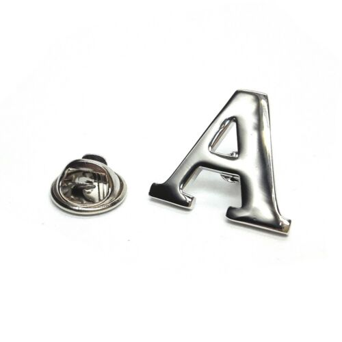 Silver Coloured Letter /'A/' Metal Pin Badge alphabet create your name AJTPM
