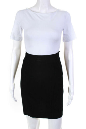 Chanel Womens Mini Skirt Black Size 8 98P