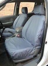 Toyota Hilux 2005-2016 Grey Waterproof & Tailored Front Seat Covers UK Made