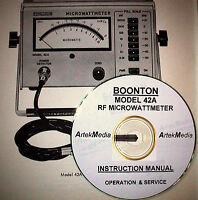 Boonton 42a Instruction Manual ( Operating & Service)