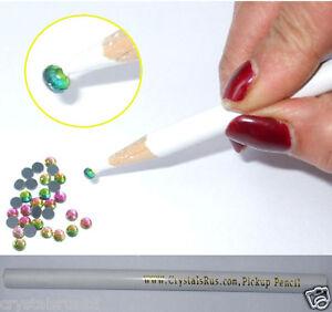 5-Crystals-r-us-PICKUP-PENCIL-TOOL-IRON-ON-RHINESTONE-BEAD-fun-craft-make-motif