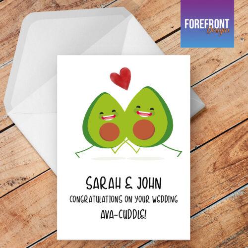 Birthday Personalised Avacado wedding card funny//humour//joke greeting card