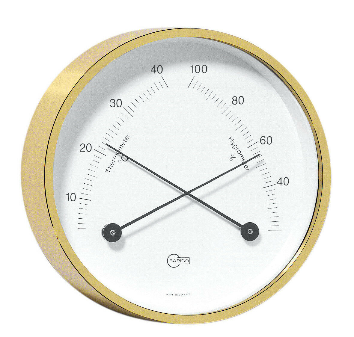 Thermohygrometer Barigo Home Messing Hängen Hängen Messing / Stellen 85mm 1cd845