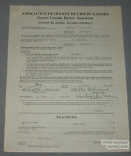 1931-32 ECHL Willie Charland La Tuque Hockey Club Signed Contract