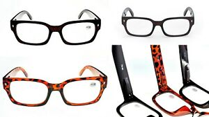 Retro-Stylish-BOLD-Fashion-Reading-Glasses-with-SPRING-HINGES-in-3-Colours-TN50