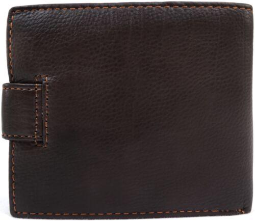 Mens Gents Genuine Soft Leather Bi-Fold Wallet Credit Card Holder