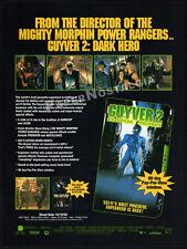 GUYVER 2: DARK HERO__Original 1994 Trade AD movie promo__STEVE WANG_DAVID HAYTER