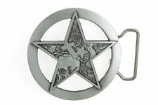 Lone Star Belt Buckle Texas Chief Sheriff Badge Rhinestone Cowboy Metal New gift