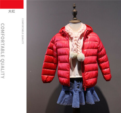 90/% Duck Down Children/'s Winter Boy and Girl Clothes Thick Warm Hooded jackets