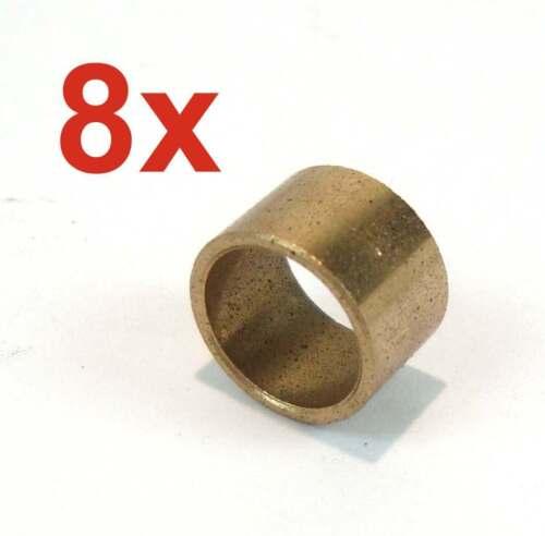 8 Stück Sinterbronze Buchse Ø 10 x 12 x 8 mm Gleitlager für 10 mm Welle Lager