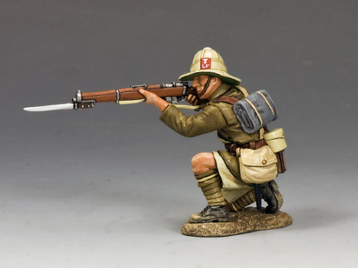 KING AND COUNTRY Kneeling Firing Rifle - Lancashire Fusiliers, Middle East ME002