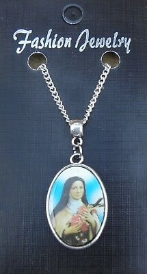 In Car Wood Wooden Beads /& Saint St Theresa Teresa of the Andes Charm Pendant