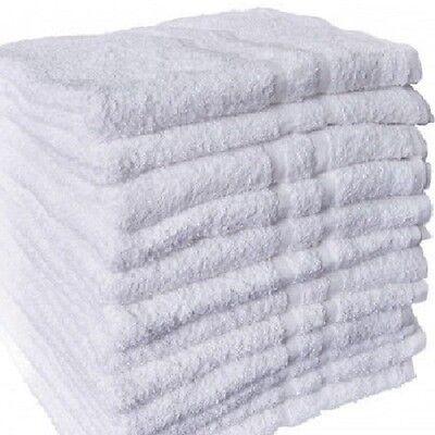 60 NEW WHITE 22x44 BATH TOWELS GYM TANNING BEST DISCOUNT REGAL CREST COTTONBLEND