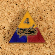 US WW2 4th Armored Division Distinctive Insignia. DI Badge Reproduction AG764