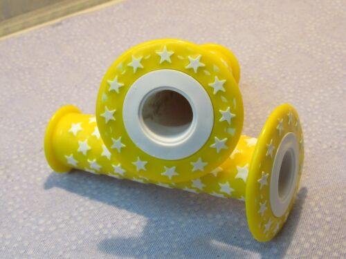 New Bicycle Grips Yellow with White Stars BMX Cruiser and Others