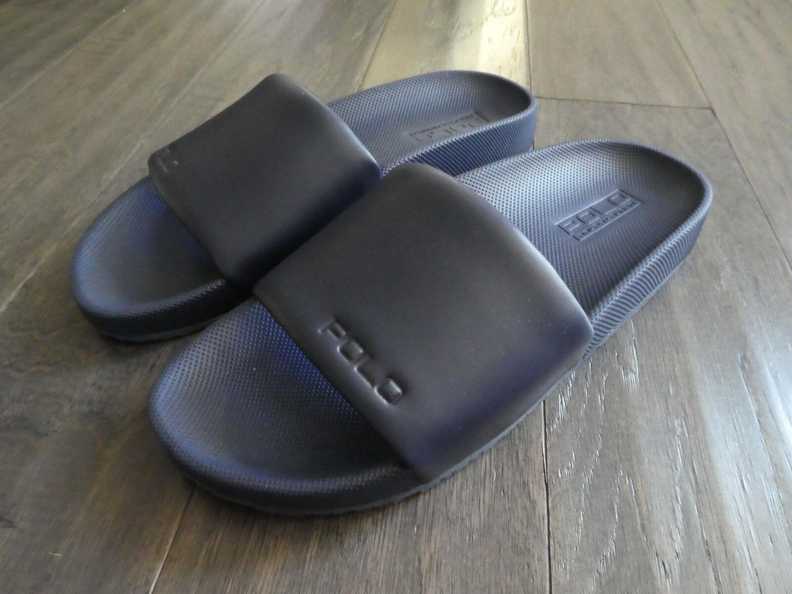 Polo Ralph Lauren Cayson Slide slides shoes new Uomo sandals navy blue