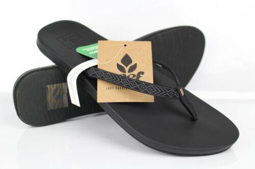 Reef Women/'s Cushion Bounce Woven Flip Flop Sandals Black RF0A3OKU