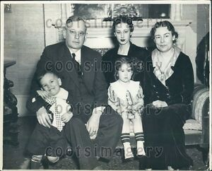 1936-Kansas-Governor-Alfred-Landon-Wife-Theo-amp-Children-Press-Photo