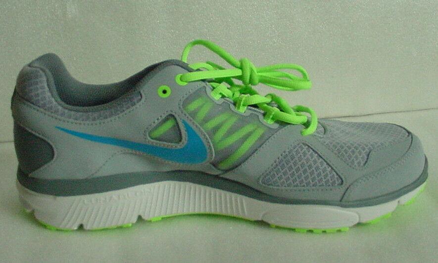 NEW Nike LunarForever 2 Shoes 554905-012 Gray Neon Green Blue White MENS Sz 11.5