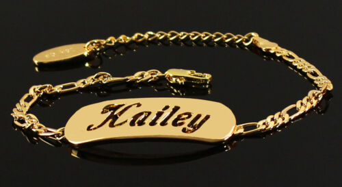 Hailey Yellow//White//Rose Gold Plated Name BraceletChristmas Gifts for Her