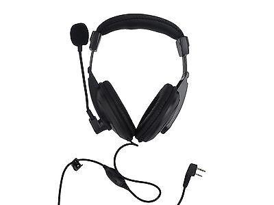 2 PIN Overhead Headphone Headset with Boom Mic for Kenwood Puxing Wouxun Baofeng