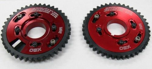 Set OBX Red Adjustable Cam Gear Sprocket for 1996-2004 Ford Mustang 4.6L 2PC