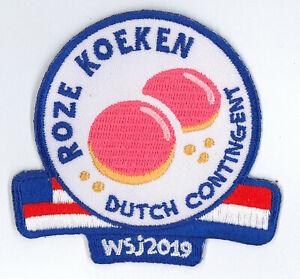 2019-World-Scout-Jamboree-HOLLAND-DUTCH-SCOUTS-Contingent-Patch-ROZE-KOEKEN