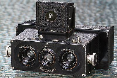FRANKE & HEIDECKE stereo 3D camera Heidoscop 1:4.5/5,5cm Tessar Lens