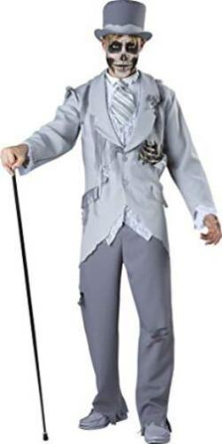 CORPSE GROOM ZOMBIE NIGHT WALKER DAY DEAD GHOST COSTUME INCHARACTER Adult LARGE