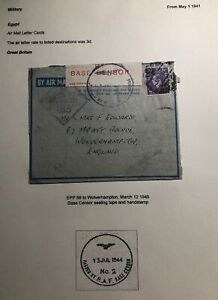1945-RAF-Egypt-Air-Letter-Censored-Cover-To-Wolverhampton-England