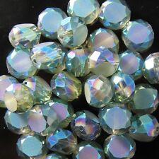10pcs 10mm Swarovski Flat drum crystal bead C hyaline-green