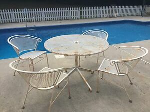Elegant Image Is Loading Vintage Mid Century Salterini Patio Chairs And Table