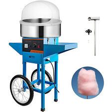 Vevor Commercial Cotton Candy Machine Blue Sugar Floss Maker With Cart Cover