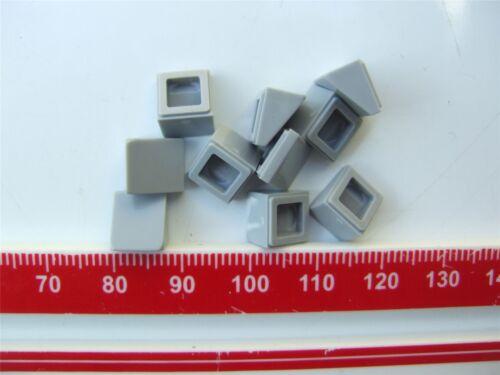 Parts /& Pieces ABS 10 x Lego Grey ROOF TILE 1X1X2//3 4521921