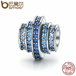Bamoer-Authentic-S925-Sterling-Silver-Charm-Blue-rhythm-Fit-Bracelets-Jewelry-q