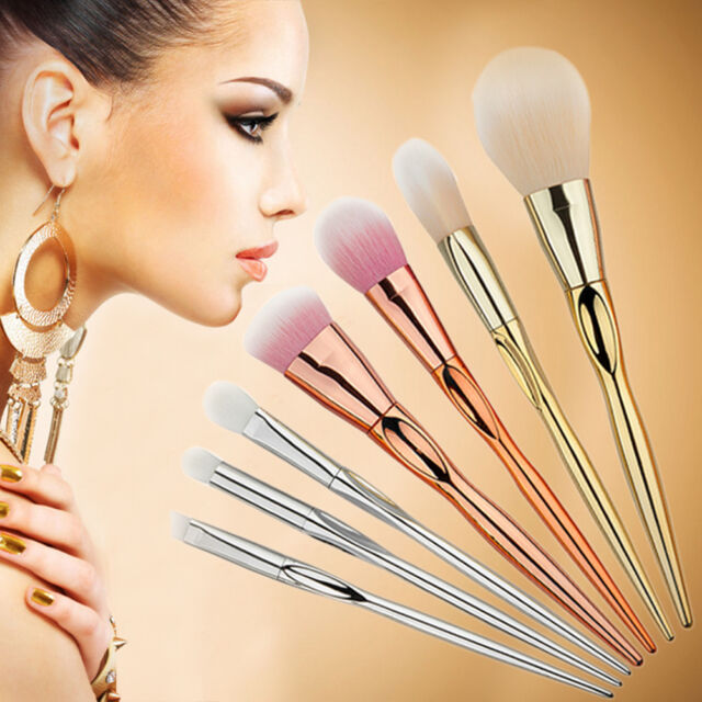 7Pcs Foundation Cosmetic Synthetic Makeup Tool Facial Cosmetic Blush Brushes Set