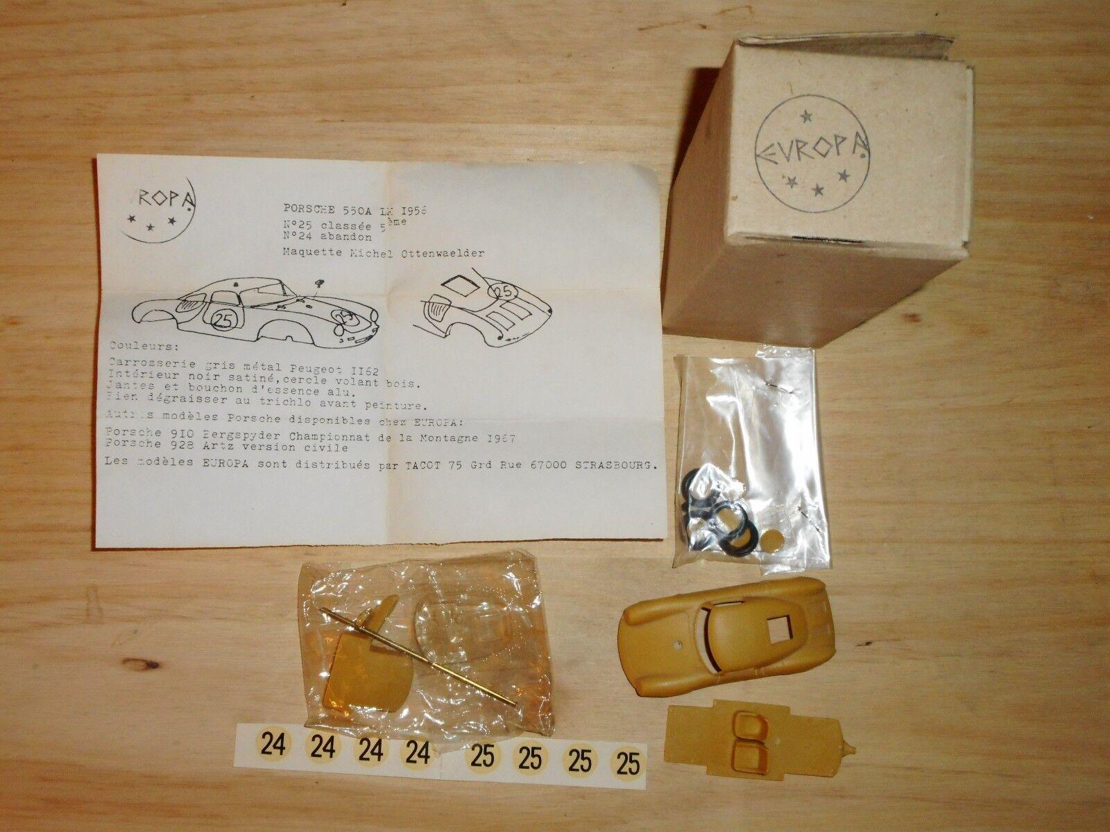 Rare vintage kit EUROPA    PORCHE 550 A LE hommeS 1956 1 43 résine  soutenir le commerce de gros