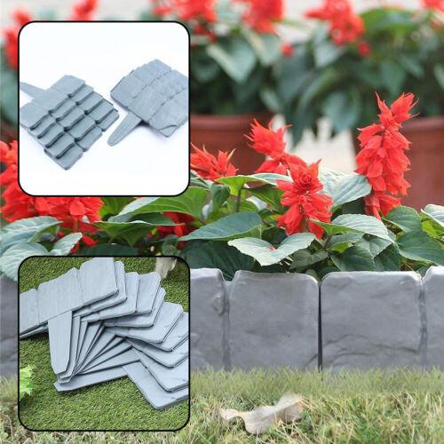 Garden Lawn Flower Edging Fence Hammer Brick Effect Plant Cobble Stone Border UK