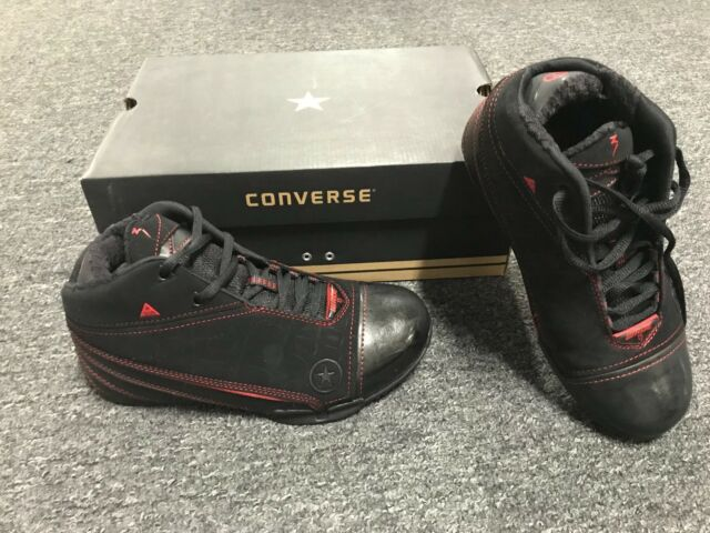 separation shoes 1adc6 0de55 Brand New  Rare  Dead Stock Converse WADE 1.3 MID 2Z401 BLACK RED Boys Size