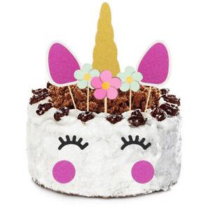 Image Is Loading UK Purple Unicorn Glitter Cake Topper Happy Birthday