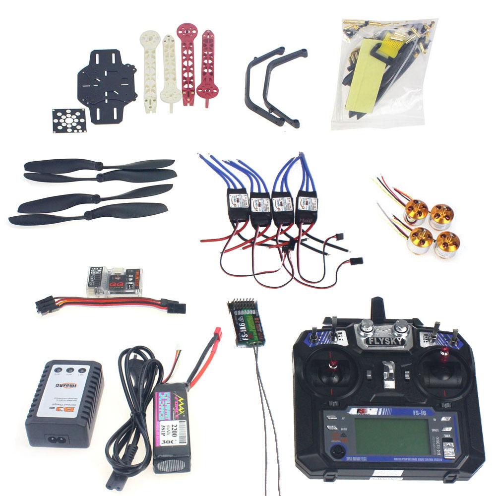 Conjunto Completo De Radio Control Teledirigido Quadrocopter 4-axis Kit de aviones F330 Marco QQ Super