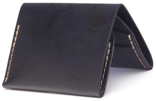 Made in America 4 Slim Bi-fold Wallet in Navy Bison Made No