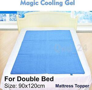 double bed magic cooling gel blue cool pad mat orthopedic. Black Bedroom Furniture Sets. Home Design Ideas