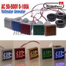 Ac 50 500v 0 100a Digital Led Dual Display Voltmeter Ammeter Voltage Gauge Meter