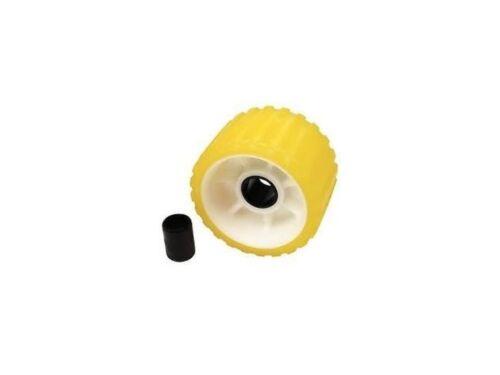 SEACHOICE Non Marking Yellow Rubber Ribbed Wobble Roller 5-3//4 /& 1 1//8 SCP 56540