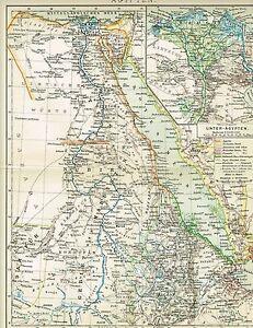 Karte Von ägypten.Details Zu Karte Von ägypten Nil Delta 1893 Original Graphik